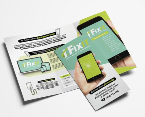 Phone Repair Shop Tri-Fold Brochure Template
