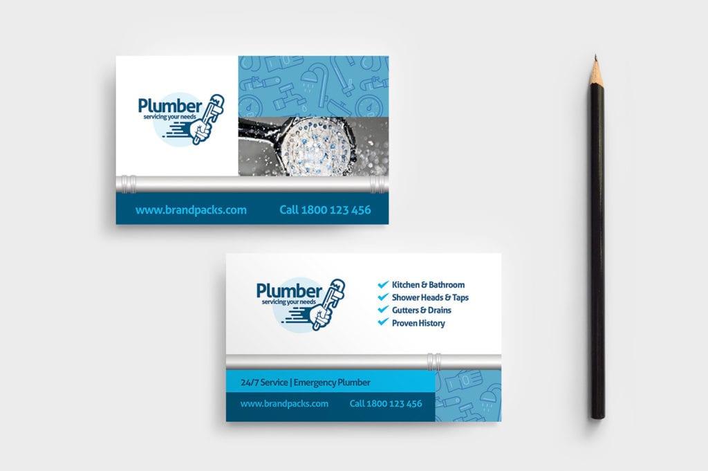 Plumber Business Card Template