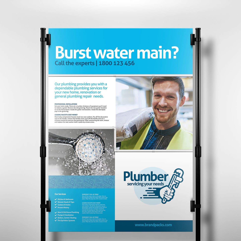 Plumber Poster Template