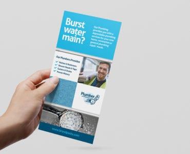 Plumbing Service DL Rack Card Template