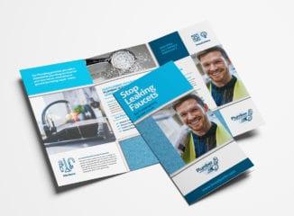 Plumbing Service Tri-Fold Brochure Template