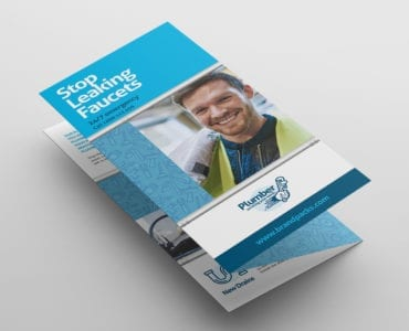 Plumbing Service Tri-Fold Brochure Template Front