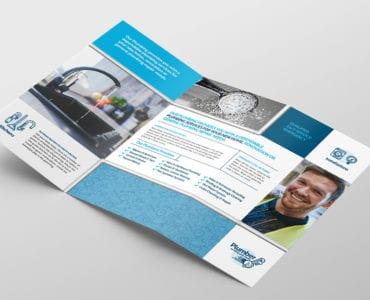 Plumbing Service Tri-Fold Brochure Template Inside