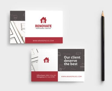 Tradesman Business Card Template