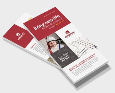 Tradesman DL Rack Card Template