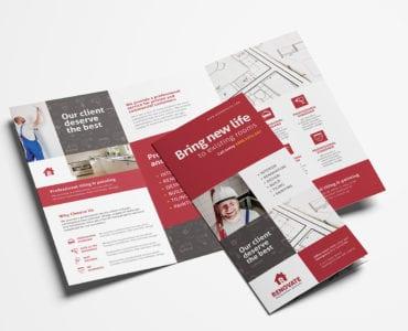 Tradesman Tri-Fold Brochure Template