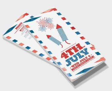 Traditional 4th July DL Rack Card Template