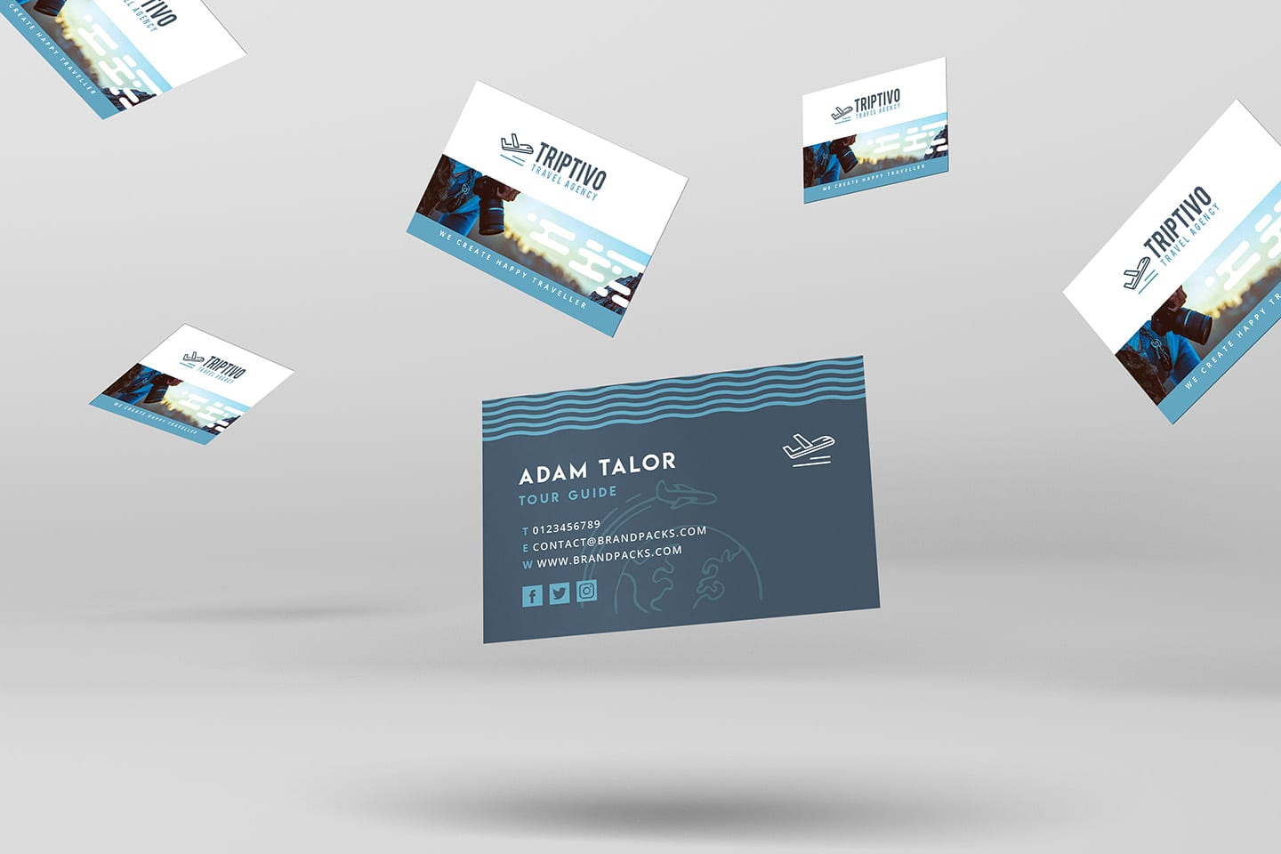 Travel Company Business Card Template In Psd Ai Vector Brandpacks