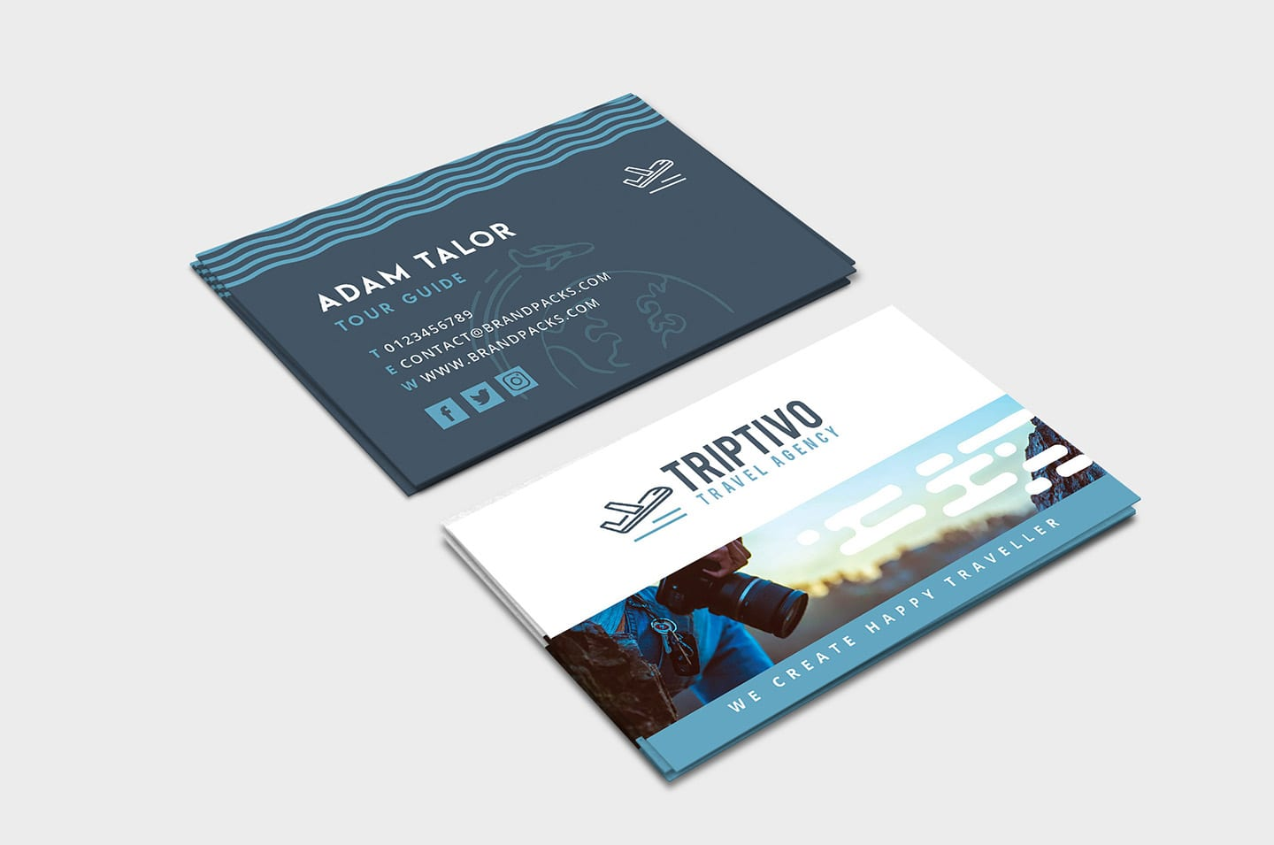 Travel Company Business Card Template in PSD, Ai & Vector ...