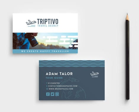Travel Company Business Card Template