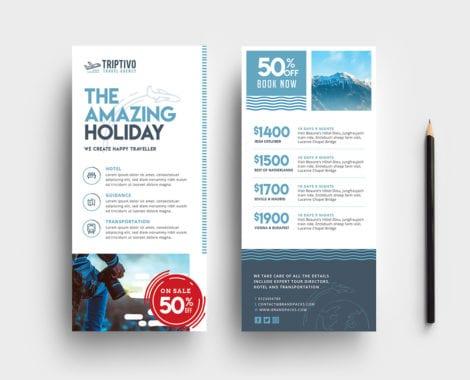 Travel Company DL Rack Card Template