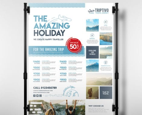 Travel Company Poster Template