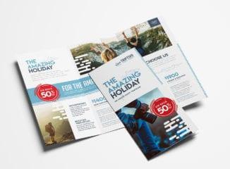 Travel Company Tri-Fold Brochure Template