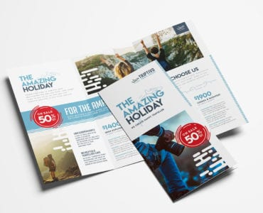 Travel Company Tri-Fold Brochure Template