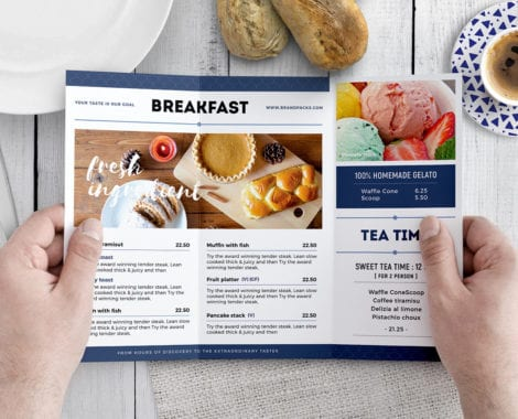 Tri-Fold Brunch Menu Template