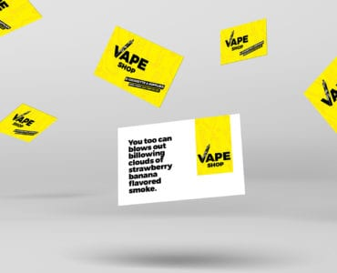 Vape Shop Business Card Template