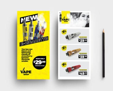 Vape Shop DL Card Template