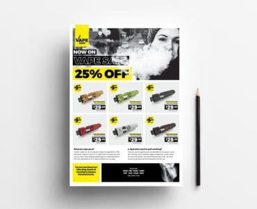 A4 Vape Shop Advertisement Template