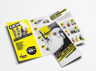 Vape Shop Tri-Fold Brochure Template