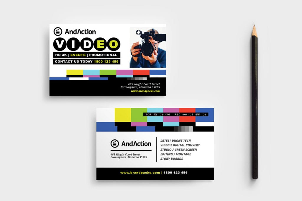 Videographer Business Card Template