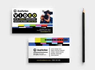 Videographer Business Card Template