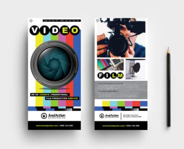 Videographer DL Card Template