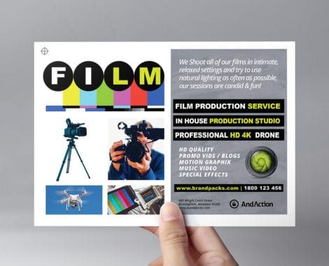 Videographer Flyer Template