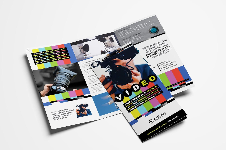 Videographer Tri-Fold Brochure Template