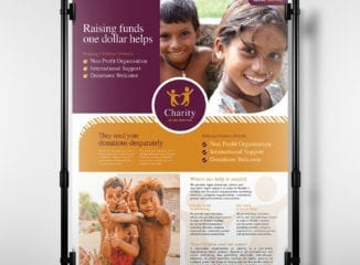 A3 Charity Poster Template