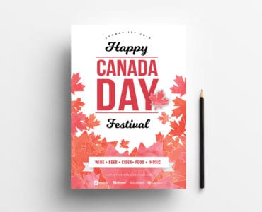 A4 Canada Day Poster Template