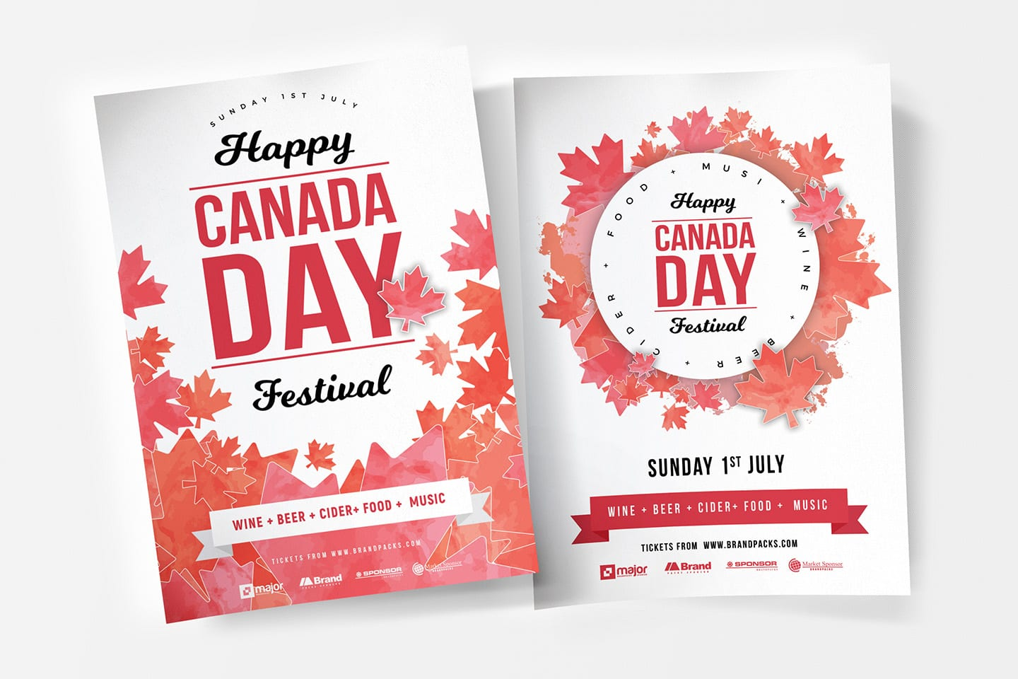 A4 Canada Day Poster Templates