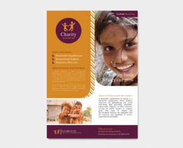 A4 Charity Poster Template
