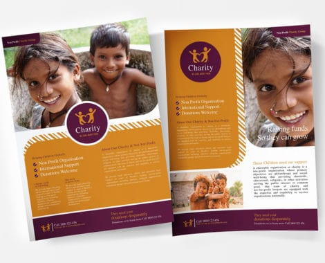 A4 Charity Poster Templates