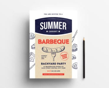 A4 Cookout / BBQ Poster Template