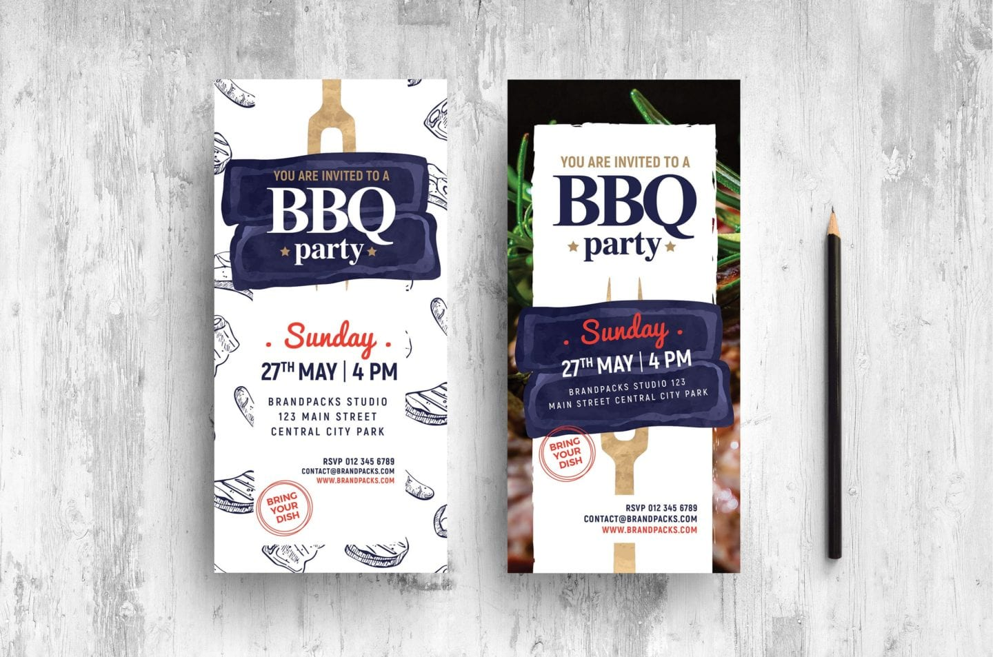 BBQ DL Card Template