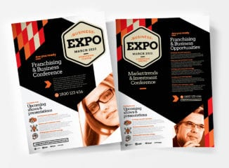 Business Expo A4 Poster Template