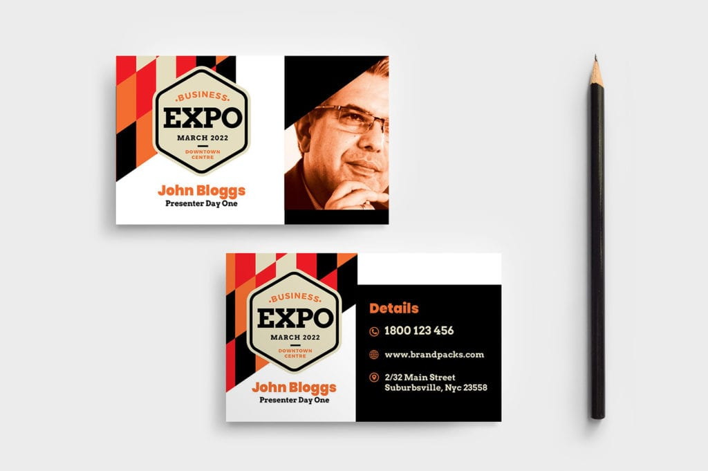 Business Expo Business Card Template