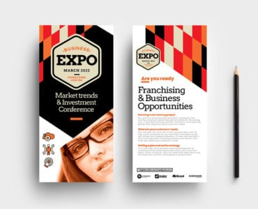 Business Expo DL Rack Card Template