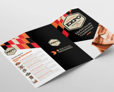 Business Expo Tri-Fold Brochure Template