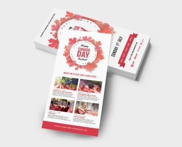 Canada Day DL Rack Card Template