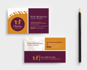 Charity Business Card Template