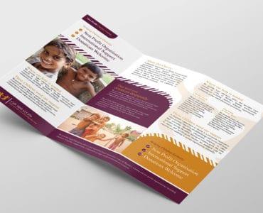 Charity Tri-Fold Brochure Template Inside