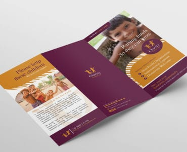 Charity Tri-Fold Brochure Template Outside