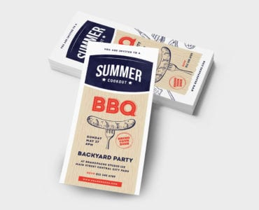 DL BBQ / Cookout Rack Card Template