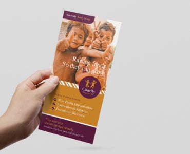 DL Charity Rack Card Template