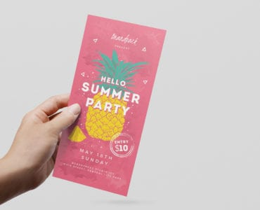 Minimal Summer DL Rack Card Template