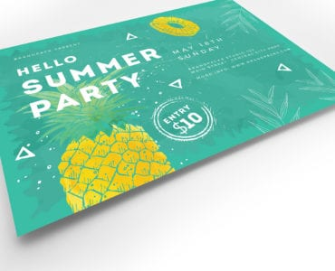 Minimal Summer Party Flyer Template