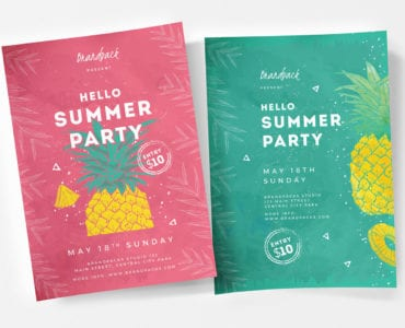Minimal Summer Poster Templates