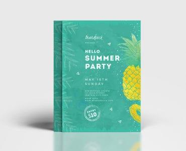 Minimal Summer Poster Template