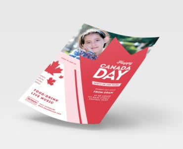 Modern Canada Day Poster Template